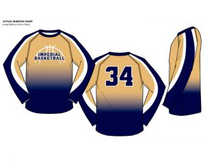 Sublimated Basketball Uniform Attack Crew Neck