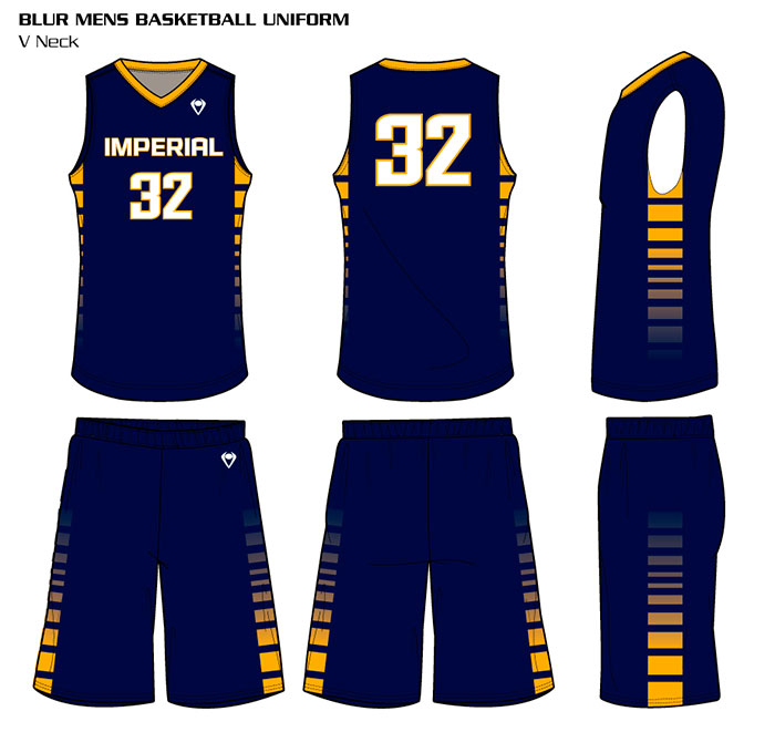 Sublimated Basketball Uniforms Blur