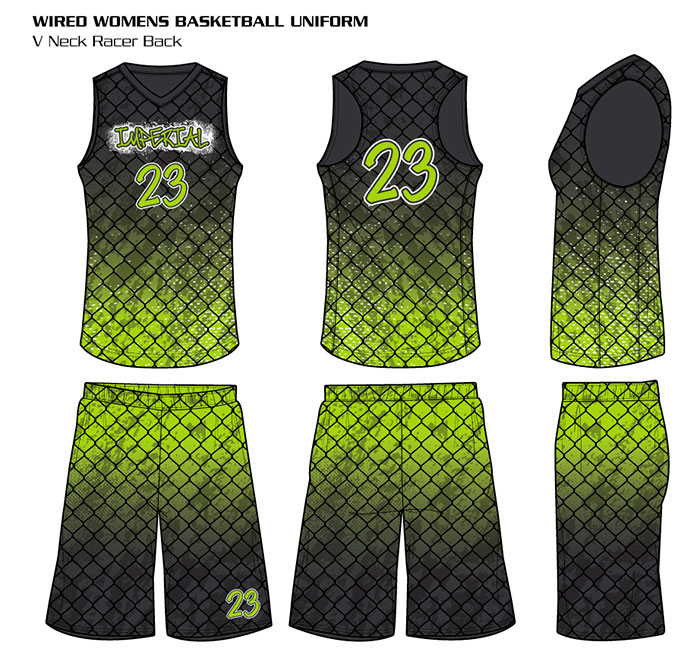 Sublimated Basketball Uniform Wired Women's Racerback