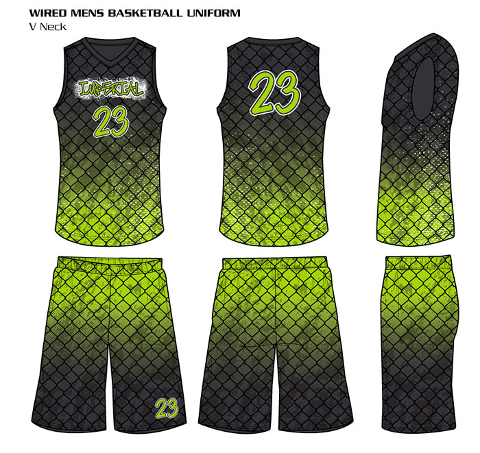 Sublimated Basketball Uniforms Wired