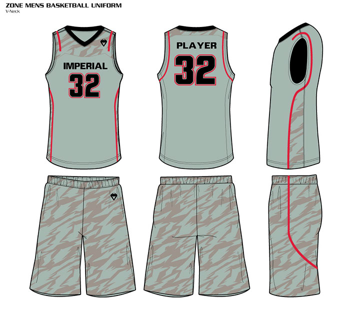 Sublimated Basketball Uniforms Zone
