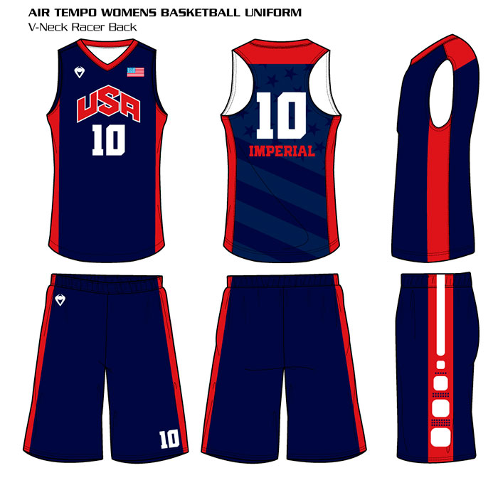 Sublimated Basketball Uniform Air Tempo Women's