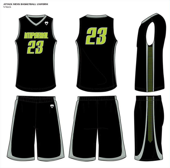 Sublimated Basketball Uniforms Attack