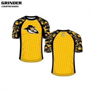 Sublimated Basketball Uniform Grinder Compression Shirt