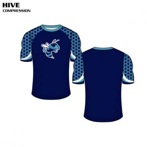 Sublimated Basketball Uniform Hive Compression Shirt