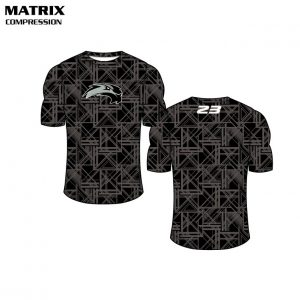 Sublimated Basketball Uniform Matrix Compression Shirt