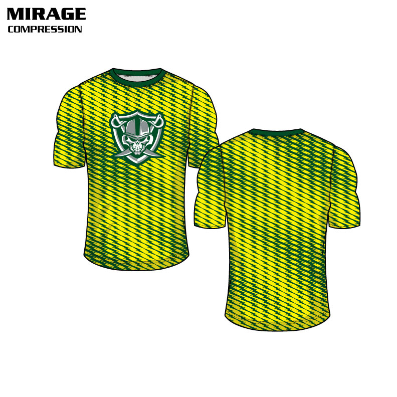 Sublimated Basketball Uniform Mirage Compression Shirt