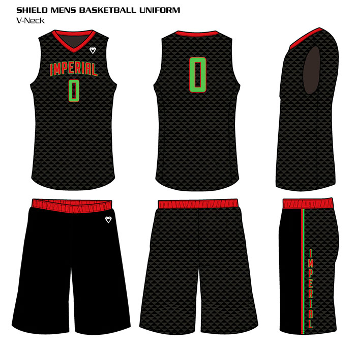 Sublimated Basketball Uniforms Shield