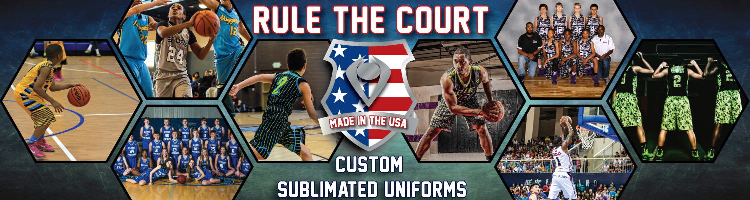 Sublimated Basketball Uniform Rule the Court Custom Sublimated Uniforms