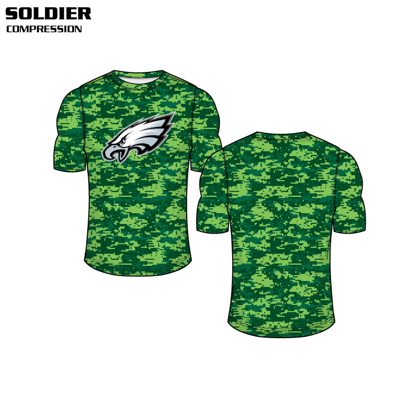 Sublimated Basketball Uniform Soldier Compression Shirt