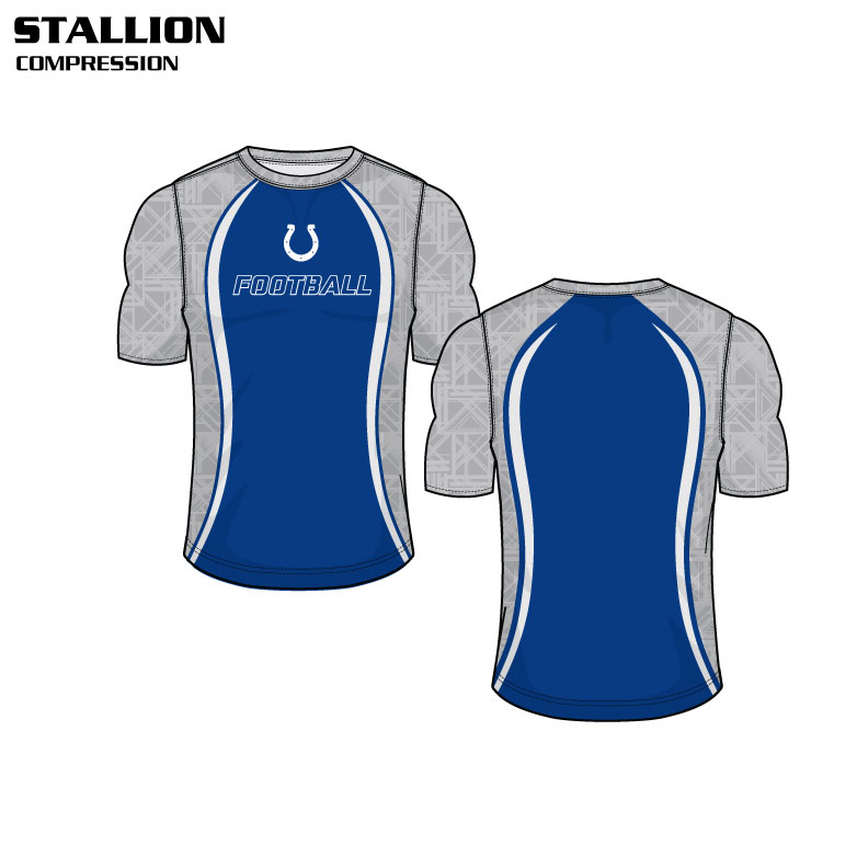 Sublimated Basketball Uniform Stallion Compression Shirt