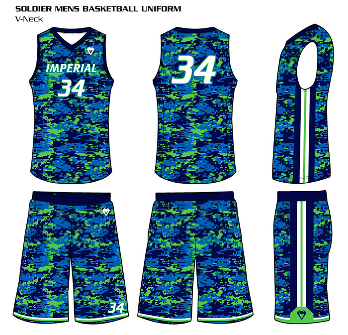 Sublimated Basketball Uniforms Soldier